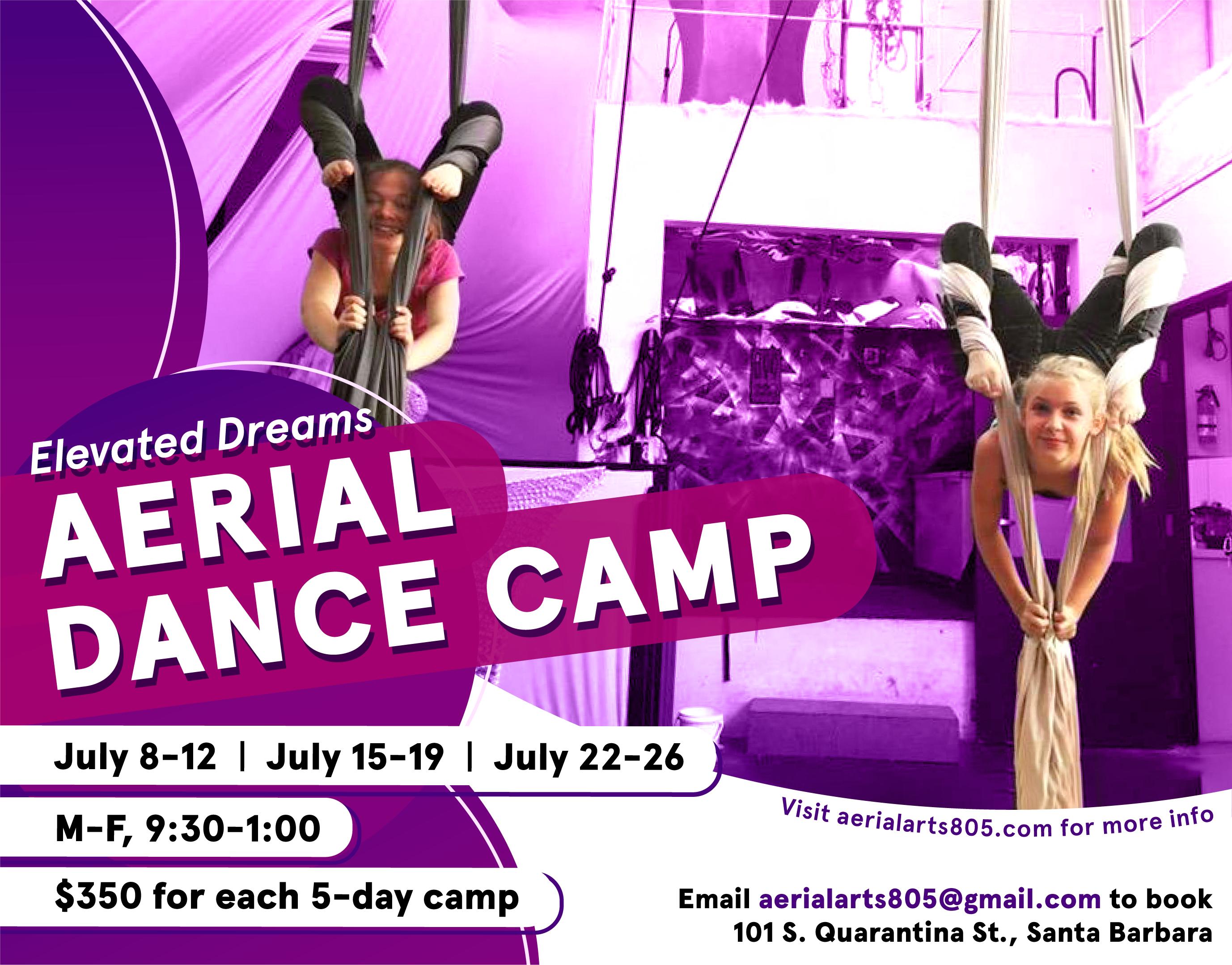 santa barbara youth aerial dance camp